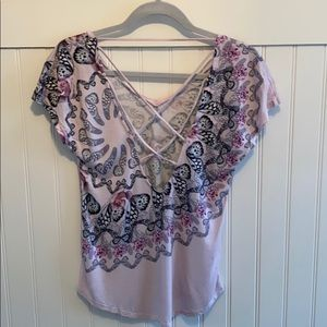 Like New Ted London Cross Back Activewear Top